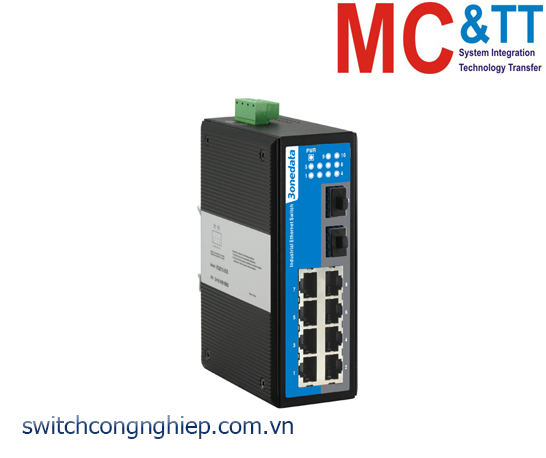 IES2010-2GS: Switch công nghiệp 8 cổng Ethernet + 2 cổng quang SFP 3Onedata
