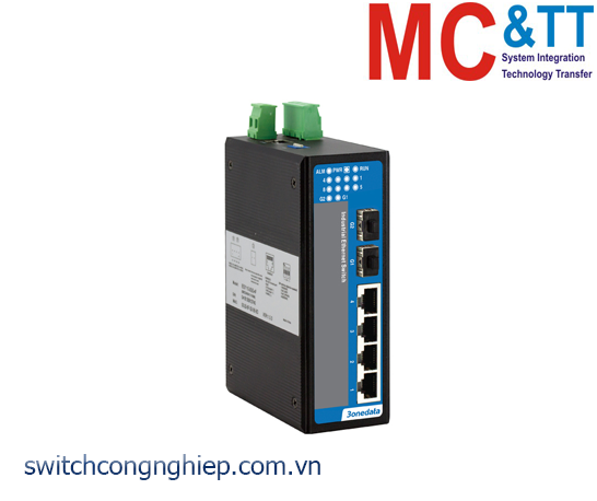 IES206-2GS: Switch công nghiệp 4 cổng Ethernet + 2 cổng quang SFP 3Onedata