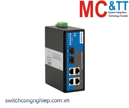 IES206G-2GS: Switch công nghiệp 4 cổng Gigabit Ethernet + 2 cổng quang Gigabit SFP 3Onedata