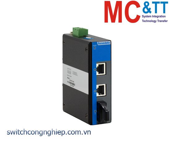 Bộ chuyển đổi quang điện công nghiệp 2 cổng Ethernet + 1 cổng quang 3Onedata IMC102B-F