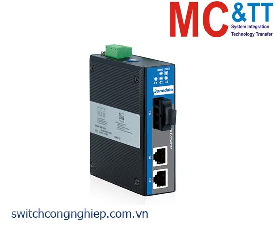 IMC102GT-1GF-M-2KM: Bộ chuyển đổi quang điện công nghiệp 2 cổng Gigabit Ethernet + 1 cổng Gigabit quang (2 sợi Quang, Multi Mode 2KM) 3Onedata