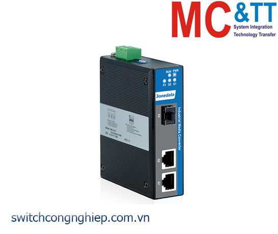 IMC102GT-1GS: Bộ chuyển đổi quang điện công nghiệp 2 cổng Gigabit Ethernet + 1 cổng quang Gigabit SFP 3Onedata