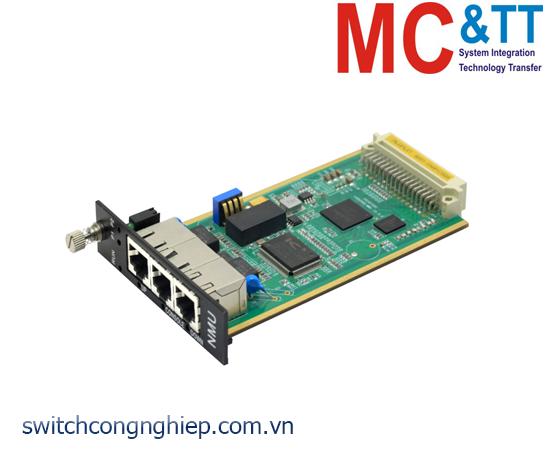 Card chuyển đổi quang điện 2 cổng Ethernet + 1 cổng Console 3Onedata NMU