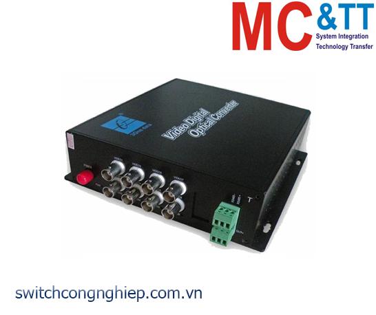 Bộ chuyển đổi 8 kênh Video + Data sang quang 3Onedata SWV60801
