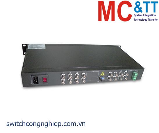 Bộ chuyển đổi 16 kênh Video + Data sang quang 3Onedata SWV61601