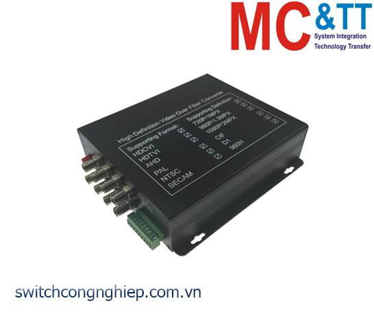 Bộ chuyển đổi 8 kênh video TVI / CVI / AHD sang quang 3Onedata SWV61800