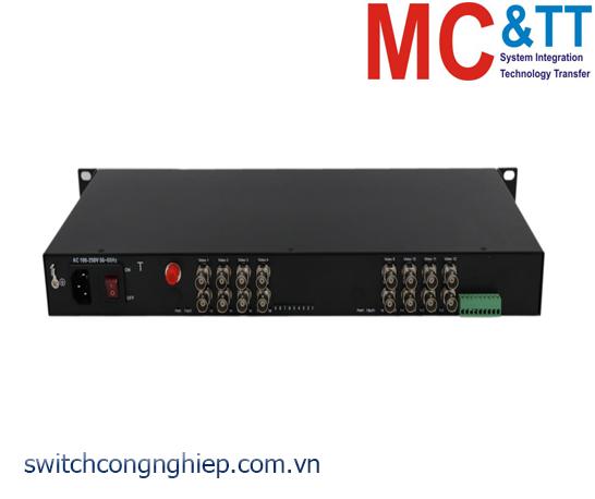 Bộ chuyển đổi 16 kênh video TVI / CVI / AHD sang quang 3Onedata SWV62600