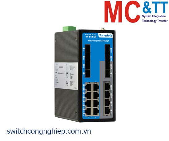 ICS6424-12GT4GS4XS-2P48: Switch công nghiệp quản lý Layer 3 12 cổng Gigabit Ethernet + 4 cổng quang 10Gb SFP + 4 cổng quang Gigabit SFP 3Onedata