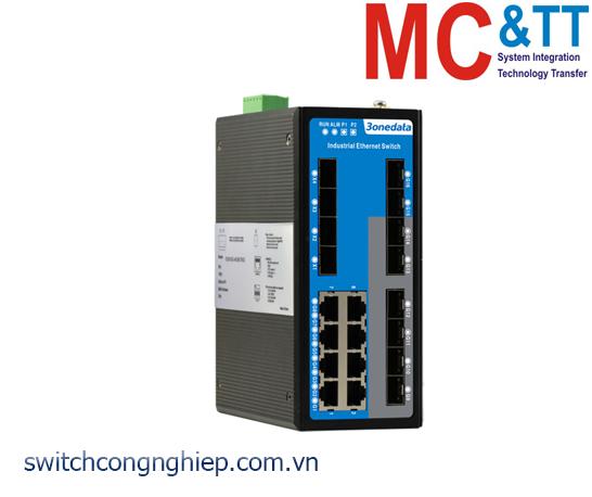 ICS6424-8GT8GS4XS-2P48: Switch công nghiệp quản lý Layer 3 8 cổng Gigabit Ethernet + 4 cổng quang 10Gb SFP + 8 cổng quang Gigabit SFP 3Onedata