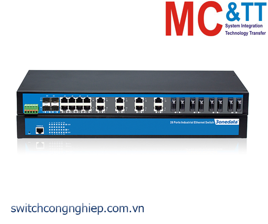 IES1028-4GS-20F: Switch công nghiệp 4 cổng Ethernet + 20 cổng quang+ 4 cổng quang Gigabit SFP 3Onedata