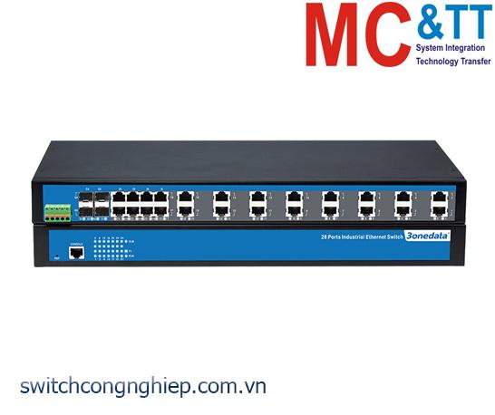 IES1028-4GS: Switch công nghiệp 24 cổng Ethernet + 4 cổng quang Gigabit SFP 3Onedata