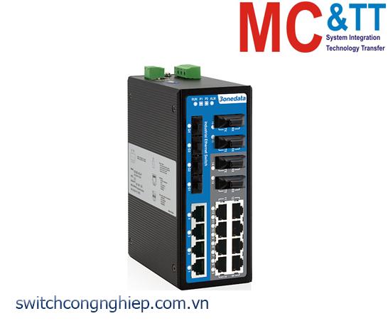 IES3020-4GS-4F: Switch công nghiệp 12 cổng Ethernet + 4 cổng quang + 4 cổng quang Gigabit SFP 3Onedata
