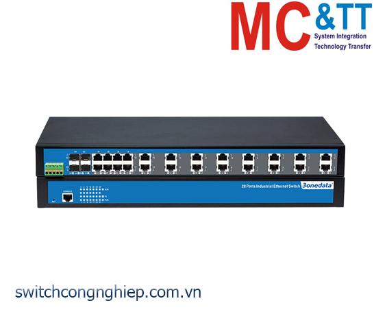 IES5028-4GS: Switch công nghiệp quản lý 24 cổng Ethernet + 4 cổng quang Gigabit SFP 3Onedata