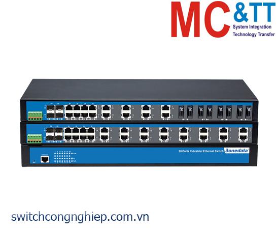 IES5028-4GS-12F: Switch công nghiệp quản lý 12 cổng Ethernet + 12 cổng quang + 4 cổng quang Gigabit SFP 3Onedata