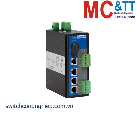 IES615-1F-2DI(3IN1): Switch công nghiệp quản lý 4 cổng Ethernet + 2 cổng RS-232/422/485 + 1 cổng quang 3Onedata