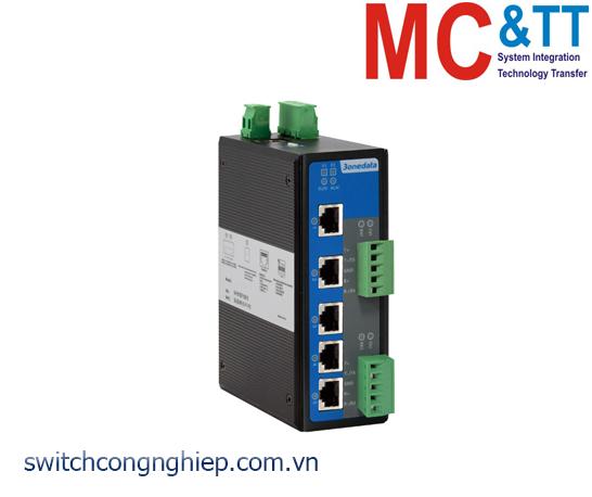 IES615-2DI(3IN1): Switch công nghiệp quản lý 5 cổng Ethernet + 2 cổng RS-232/422/485 3Onedata