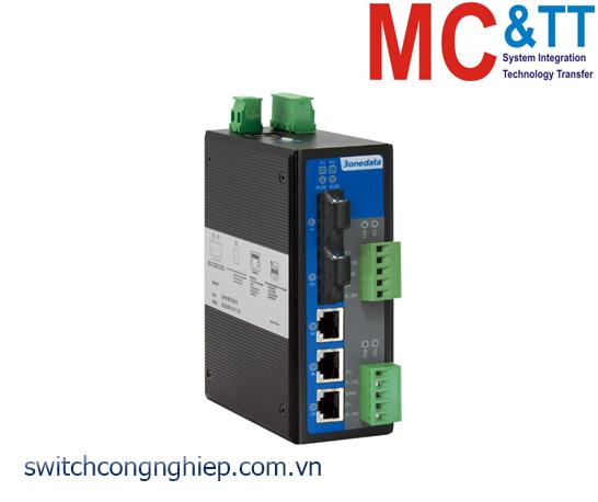 IES615-2F-2DI(3IN1): Switch công nghiệp quản lý 3 cổng Ethernet + 2 cổng RS-232/422/485 + 2 cổng quang 3Onedata