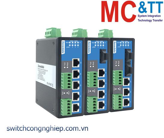 IES615-1F-2D(RS-232): Switch công nghiệp quản lý 4 cổng Ethernet + 2 cổng RS-232 + 1 cổng quang 3Onedata