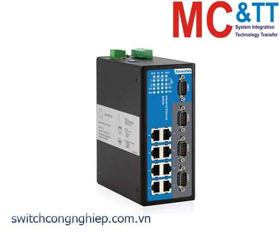 IES618-4D(RS-232): Switch công nghiệp quản lý 8 cổng Ethernet + 4 cổng RS-232 3Onedata