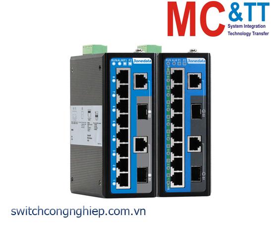IES6210-8T2GC-2P48: Switch công nghiệp quản lý 8 cổng Ethernet + 2 cổng quang Combo Gigabit SFP 3Onedata