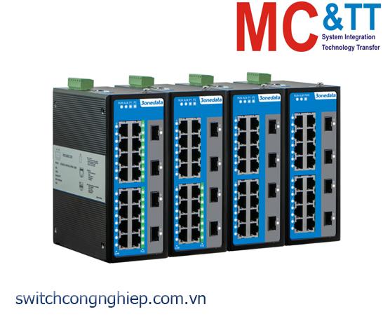 IES6220-16P4GS-2P24-120W: Switch công nghiệp quản lý 16 cổng PoE Ethernet + 4 cổng quang Gigabit SFP 3Onedata