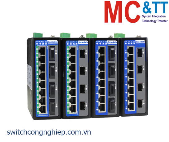 IES6312-8GT4GF-2P48: Switch công nghiệp quản lý 8 cổng Gigabit Ethernet + 4 cổng Gigabit quang 3Onedata