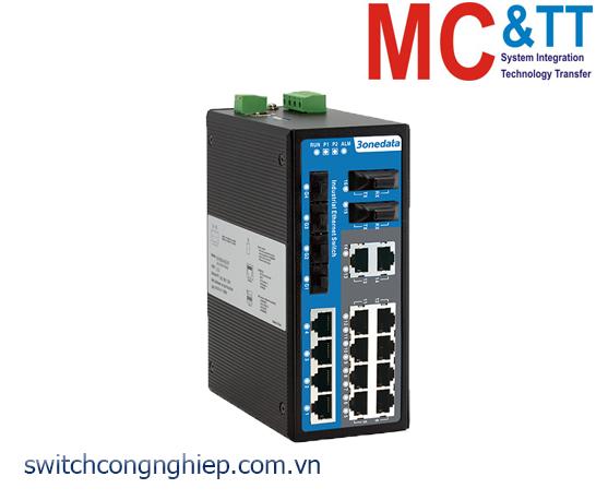 IES7120-4GS-2F: Switch công nghiệp quản lý 14 cổng Ethernet + 2 cổng quang + 4 cổng quang Gigabit SFP 3Onedata