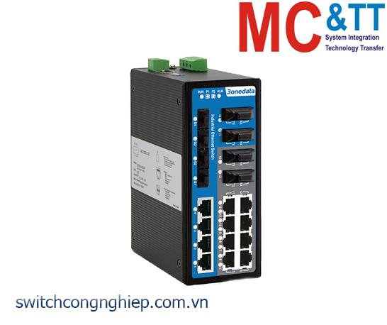 IES7120-4GS-4F: Switch công nghiệp quản lý 12 cổng Ethernet + 4 cổng quang + 4 cổng quang Gigabit SFP 3Onedata