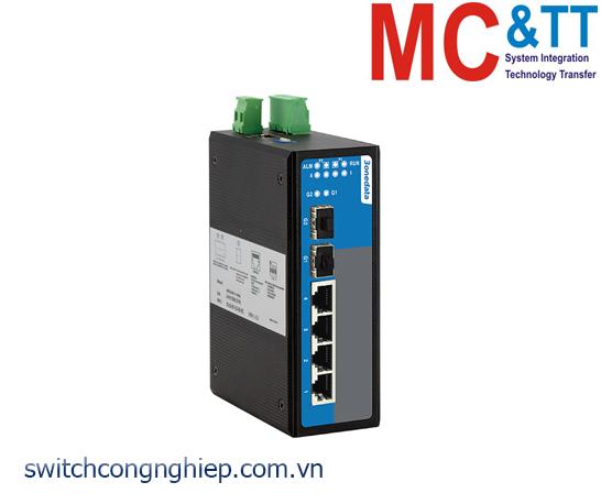 IES716-2GS: Switch công nghiệp quản lý 4 cổng Ethernet +2 cổng quang Gigabit SFP 3Onedata