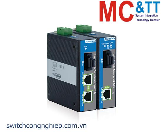 IPMC100-1GS-1GPOE: Bộ chuyển đổi quang điện PoE công nghiệp 1 cổng PoE Gigabit Ethernet + 1 cổng SFP Gigabit 3Onedata