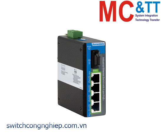 IPS2000G-1GF-4GPOE: Switch công nghiệp 4 cổng PoE Gigabit Ethernet + 1 cổng quang Gigabit 3Onedata