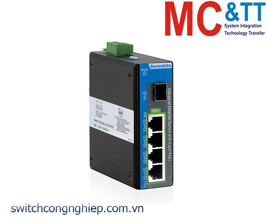 IPS2000G-1GS-4GPOE: Switch công nghiệp 4 cổng PoE Gigabit Ethernet + 1 cổng quang Gigabit SFP 3Onedata