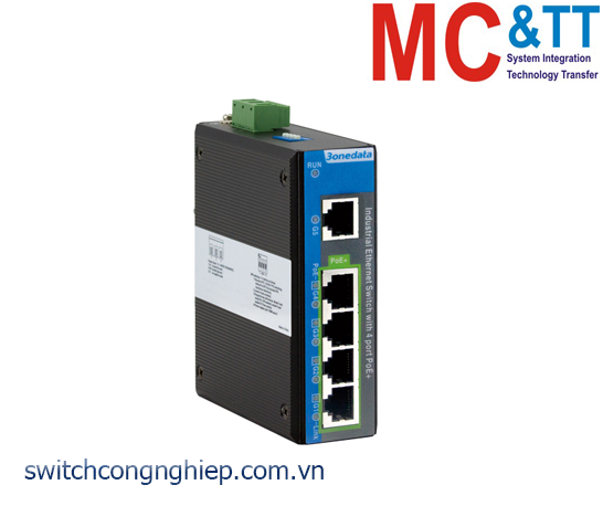 IPS2000G-1GT-4GPOE: Switch công nghiệp 4 cổng PoE Gigabit Ethernet + 1 cổng Gigabit Ethernet 3Onedata