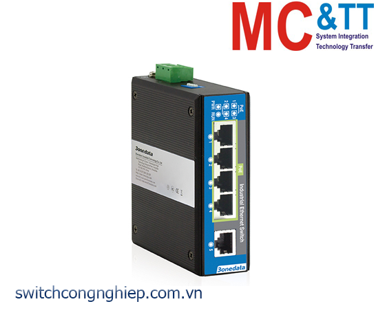 IPS215-4POE: Switch công nghiệp 4 cổng PoE Ethernet + 1 cổng Ethernet 3Onedata