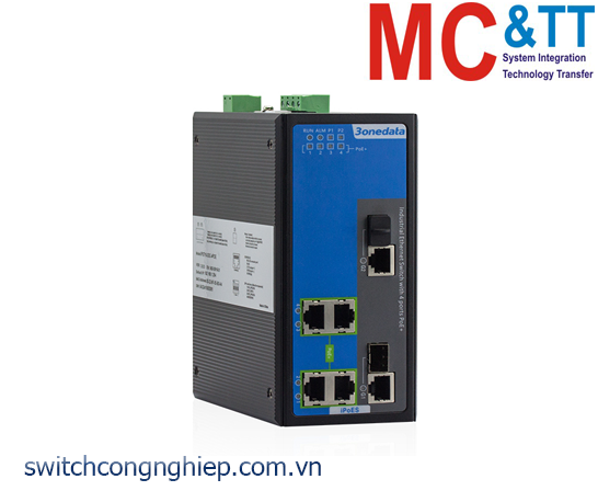 IPS316-2GC-4POE: Switch công nghiệp 4 cổng PoE Ethernet + 2 cổng combo Gigabit 3Onedata