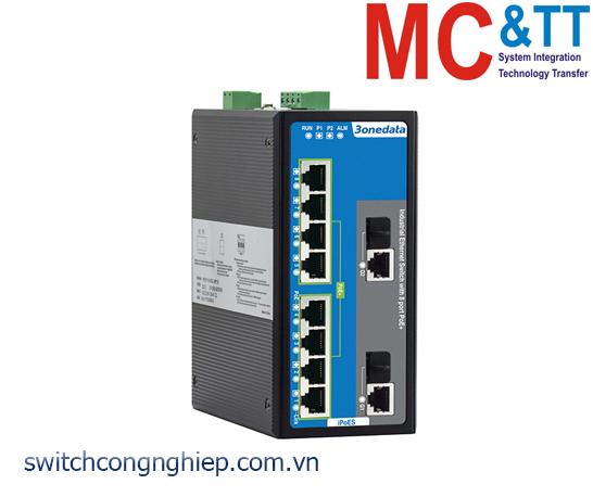 IPS7110-2GC-4T-4POE: Switch công nghiệp quản lý 4 cổng Ethernet + 4 cổng PoE Ethernet + 2 cổng combo Gigabit SFP 3Onedata