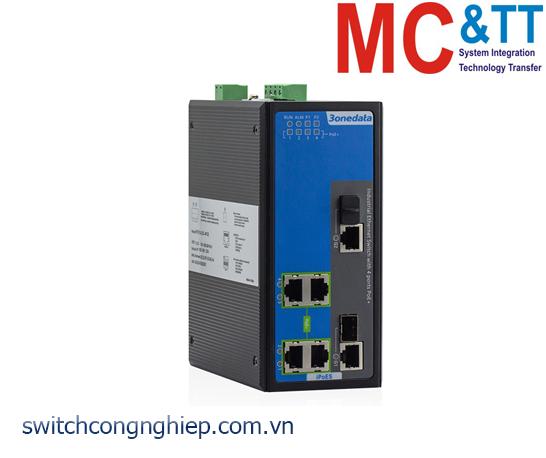 IPS716-2GC-4POE: Switch công nghiệp quản lý 4 cổng PoE Ethernet + 2 cổng combo Gigabit 3Onedata