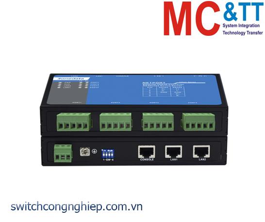 NP314T-4DI(RS-485): Bộ chuyển đổi 4 cổng RS-485/422 sang 2 cổng Ethernet 3Onedata