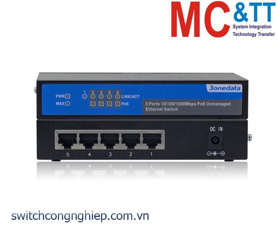PS1005G-1GT-4POE: Switch không quản lý 1 cổng Gigabit Ethernet + 4 cổng Gigabit PoE Ethernet 3Onedata