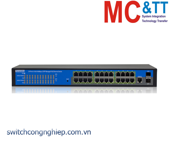 PS5026G-2GS-24POE: Switch quản lý 24 cổng Gigabit PoE Ethernet + 2 cổng Gigabit SFP 3Onedata