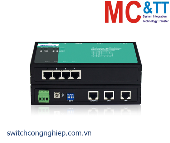 GW1114-4D(3IN1)-RJ45: Modbus Gateway 4 cổng RS-232/485/422 sang 2 cổng Ethernet