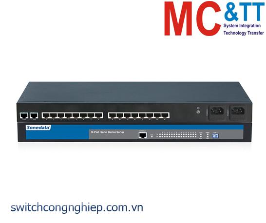 NP3116T-16D(3IN1): Bộ chuyển đổi 16 cổng RS-232/485/422 sang 2 cổng Ethernet Rackmount