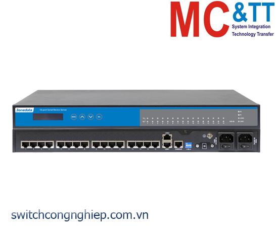NP5100-2T-16DI(3IN1)-RJ-OLED: Bộ chuyển đổi 16 cổng RS-232/485/422 sang Ethernet Rackmount