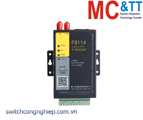 F8114: ZigBee + GPRS IP Modem Four-Faith