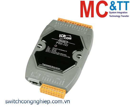 PDS-721 CR: Bộ chuyển đổi tín hiệu 1 cổng RS-232 +1 cổng RS-485 sang Ethernet ICP DAS
