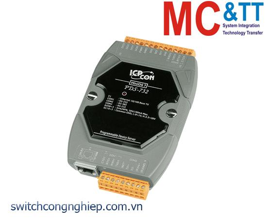 PDS-732 CR: Bộ chuyển đổi tín hiệu 2 cổng RS-232 +1 cổng RS-485 sang Ethernet ICP DAS