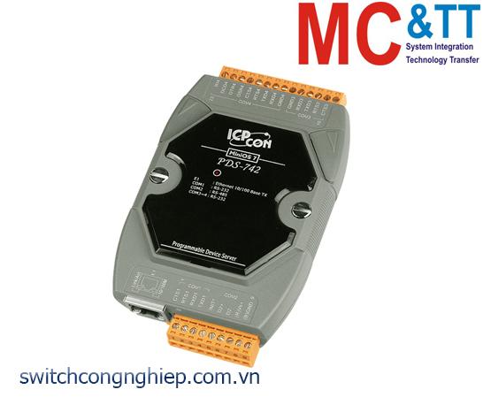 PDS-742 CR: Bộ chuyển đổi tín hiệu 3 cổng RS-232 +1 cổng RS-485 sang Ethernet ICP DAS