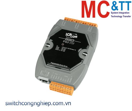 PDS-755 CR: Bộ chuyển đổi tín hiệu 1 cổng RS-232 +4 cổng RS-485 sang Ethernet ICP DAS