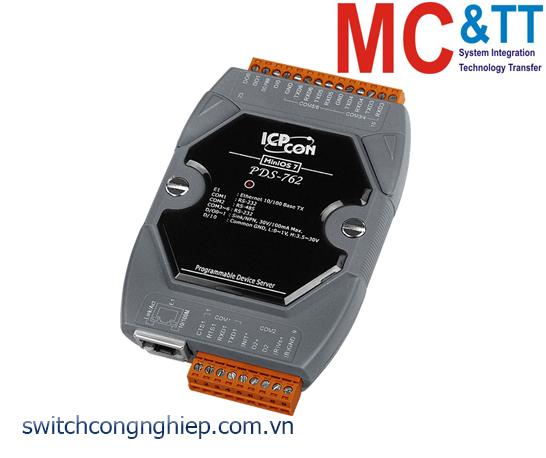 PDS-762 CR: Bộ chuyển đổi tín hiệu 5 cổng RS-232 +1 cổng RS-485 sang Ethernet ICP DAS