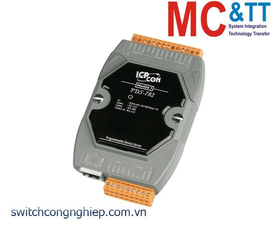 PDS-782 CR: Bộ chuyển đổi tín hiệu 7 cổng RS-232 +1 cổng RS-485 sang Ethernet ICP DAS